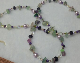 Crystal & Bead Necklace