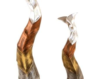 Vase Aluminium Curvy Style Set of 2