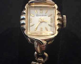Vintage Ladies Bulova 10ct RGP Hand Wind Watch- 1965 and runs perfectly- Excellent Cond
