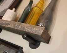 Metal Bracket, For Shelf or Ledge, Single Steel Brackets Available in 2 Sizes and 3 Finishes by IronWorksOlogy