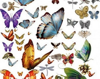 Decoupage paper napkins, Butterfly