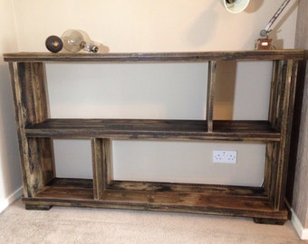 Handmade reclaimed wood sideboard/bookshelf