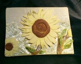 Sunflower Ceramic Tile/Wall Hanging