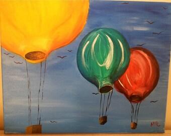 Hot Air Balloons acrylic painting