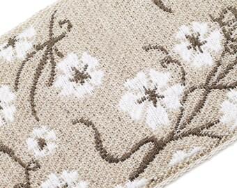 BD1241  wild flowers linen braid