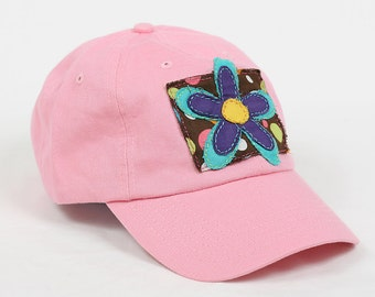 Ladies Baseball Cap with a Flower Decal