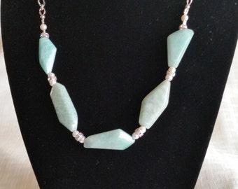 Amazonite Gemstone Necklace Set (Chunky)