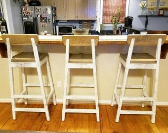 Reclaimed Wood Barstools