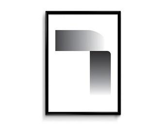 Printable poster, Hangul poster, Korean alphabet, Typography, Instant download, Wall art