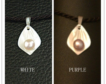 Fresh water pearls. mother of pearls & sterling silver Pendants