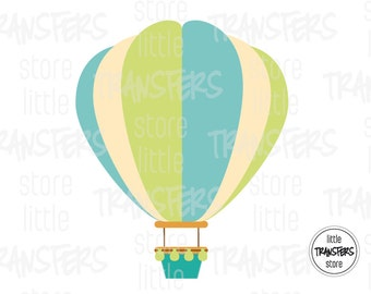 Hot Air Balloon - Iron on Transfer - INSTANT DOWNLOAD