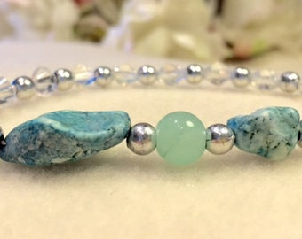 Jade and turquoise bracelet