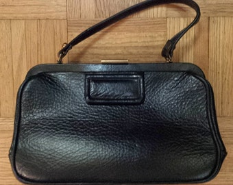 1950's Calderon pebbled leather purse - black
