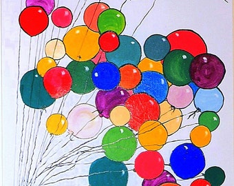 Balloons - Poster.  Shipping free within Canada.