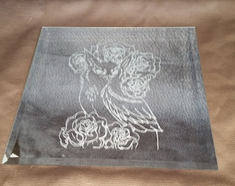 Owl Glass Etching