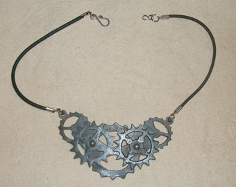 Steampunk Moving Gear Necklace