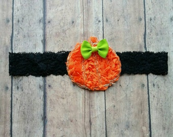 Pumpkin headband - fall headband - baby pumpkin headband - girl headband - orange headband - thanksgiving  headband - baby girl gift