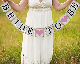 3M Bride To Be Paper Banner Garlands Wedding Decoration Bachelorette Hen Party Bunting Bridal Shower Accessories Events Supplies
