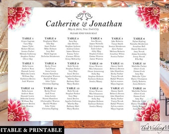 Wedding Seating Chart DIY Seating Chart Template Seating Chart DIY Wedding Seating Plan Seating Chart PDF Editable Seating Plan pdf SC05