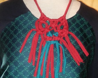 red/ turq necklace