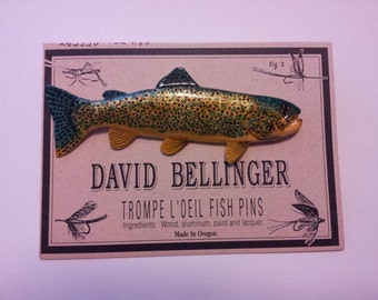 Painted Desert Trout Fish Pin 239