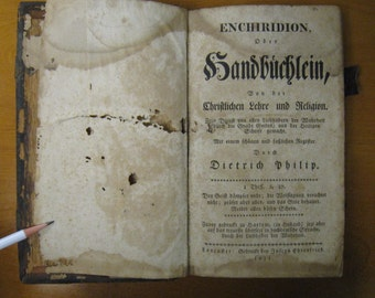 1811 Enchiridion oder Handbuchlein printed in Lancaster Pennsylvania by Joesph Ehrenfried - Pennsylvania Dutch