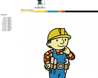 Bob The Builder Machine Embroidery