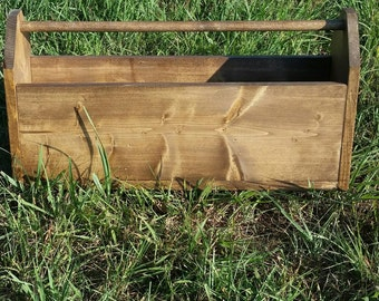 Wooden Toolbox with Dividers