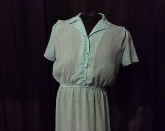 vintage Blue Spotted Dress