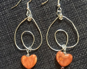 Hand formed wire earrings