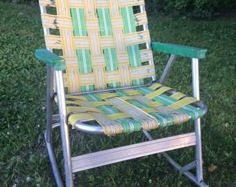 Vintage Lawn Chair Rocker