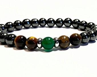 Mens Beaded Bracelet Hematite Bracelet Magnetic Hematite Black Bracelet Boyfriend Gift For Him Fashion Bracelet Hematite Jewelry
