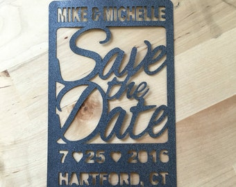 The Apple Tree: Save the Date - wedding announcement, paper cut out silhouette