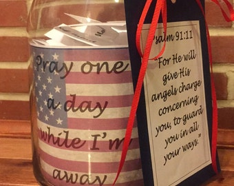 Prayer Jar for loved one in the Military
