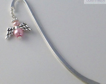 Guardian Angel Bookmark - Silver Plated