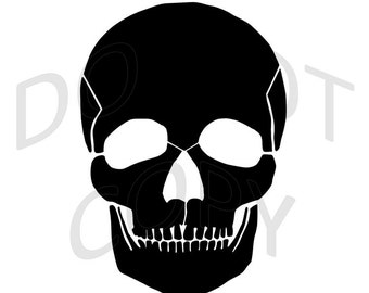 Reusable Stencil - Skull Silhouette - Many Sizes to Choose from!