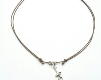 Musical note Necklace for men