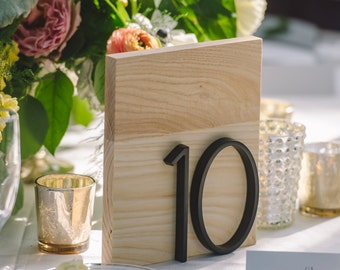 Wood Wedding Table Numbers with Address Numbers