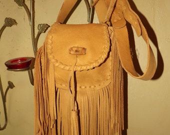 Fringed Leather Purse