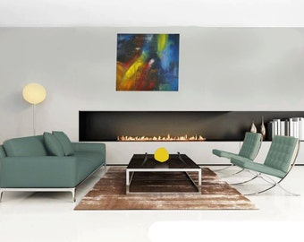 Colour on canvas