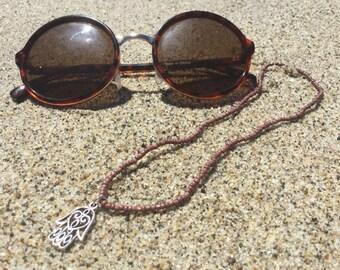 Brown Hamsa Necklace