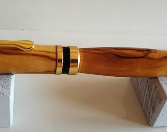 Gift idea ballpoint handmade olive wood