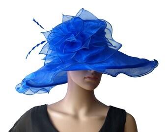 Wedding/asco/bridal HAT. VERY WIDE SIze- M           n