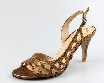 Bronze wedding shoes – Etsy UK