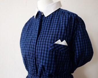 Secretary   SCHOOL GIRL DRESS   Wool Dress   60s squared  