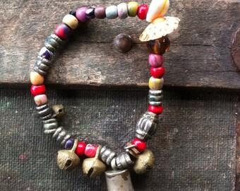 Handmade beaded bracelet recycled
