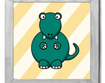 T-Rex Print - Kids Room Decor, Kids Wall Art, Kids Art, Nursery Decor, Nursery Art, Nursery Wall Art, Dinosaur Nursery Art, Dinosaur Print