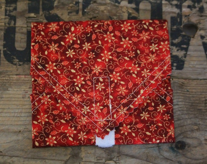 Beeswax Food Wrap - Sandwich Wrap - christmas red leaf