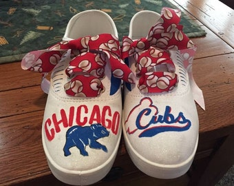 Chicago Cubs handpainted custom shoes