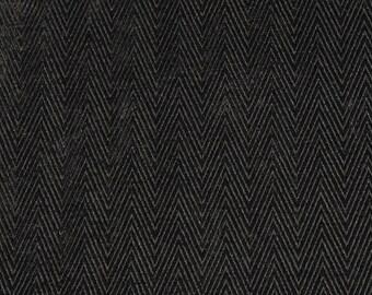 Upholstery/Drapery Herringbone Home Decor Chenille Fabric Elite Black By The Yard